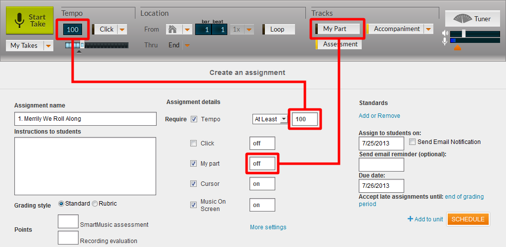 Requirement for custom assignment