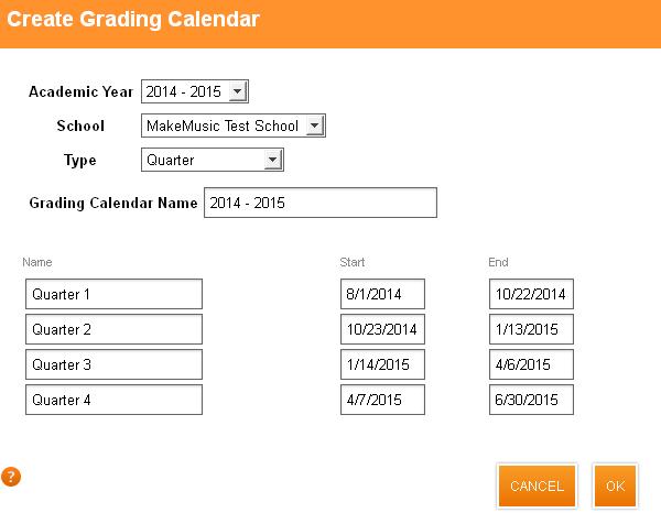 create a school calendar